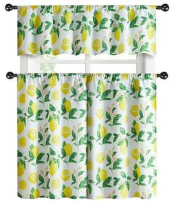 Kate Aurora Country Lemon Vine Complete 3 Pc. Kitchen Curtai