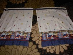 "country style kitchen tiers curtains  29x 37.5"" each"
