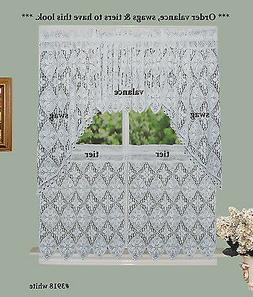Crochet Lace Kitchen Curtain Valance Tier or Swag White 100%