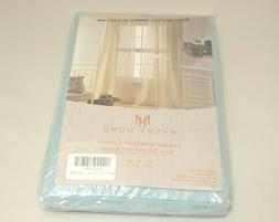 MYSKY HOME Crushed Voile Sheer Curtains Back Tab and Rod Poc