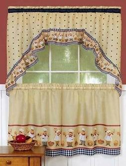"Cucina Curtains, Complete Tier & Swag Set, 36""L Tiers"