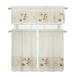 cupcakes complete kitchen curtain tier