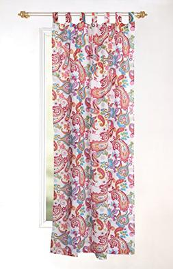 "Karma Living CUPH_WH Paisley Feast Curtain, Set of 2, 44"" x"