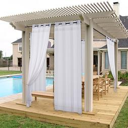 NICETOWN Outdoor Curtain and Drapery Panel for Patio Fade Re