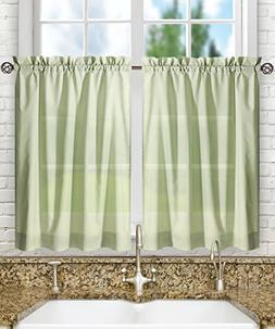 "Ellis Curtain Stacey Tailored Tier Pair Curtains, 56"" x 24"","