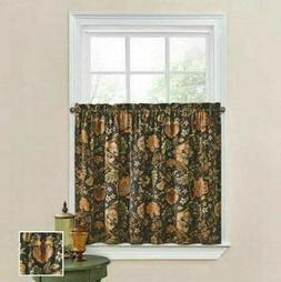 """Waverly Curtain Tiers Set Imperial Dress Onyx 36"""" Long Tier"""