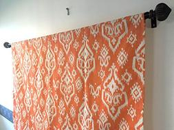 Curtain Valance Orange and off white 52x14, 52x17, 52x20, 52