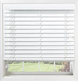 """Bali Blinds Custom Faux Wood 2"""" Corded Blinds with Cord Tilt"""
