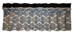 "Custom Harley-Davidson Fabric Blackout Valance 14""x45"" Curta"