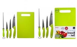 Cutting Board Set Plus Kitchen Knives - Includes Cutlery Che