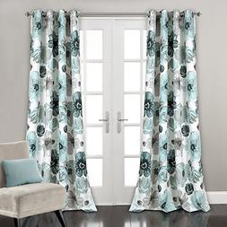 Lush Decor Leah Floral Darkening Window Curtains Panel Set f