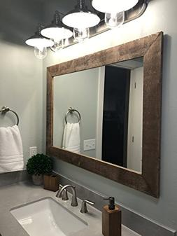 Shiplap Large Wood Framed Mirror Available in 4 Sizes and 20