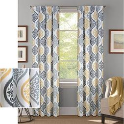 "Better Homes and Gardens Damask Ogee Curtain Panel, 52"" x 84"