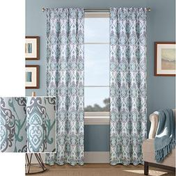 Better Homes and Gardens Damask Scroll Curtain Panel,52x63,A