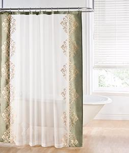 Regal Home Collections Danbury Embroidered Shower Curtain, S