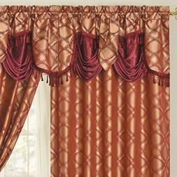 DANCE WITH WIND. Jacquard window curtain panel drape with at