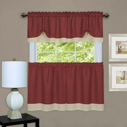 Achim Darcy Curtain Tier and Window Valance Set