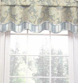 Waverly Home Declyn l Paisley Floral Scallop Valance, 52-inc