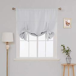 Deconovo Blackout Curtain Tie Up Shade Window Panels for Liv