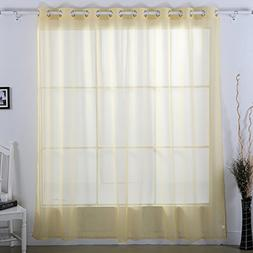 Deconovo Decorative Sheer Voile Curtain Wide Width Curtains