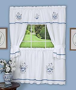 Achim Home Furnishings 58-Inch by 36-Inch Delft Embellished