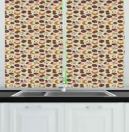 dessert kitchen curtains 2 panel set window