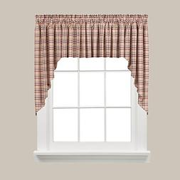 SKL Home Dexter Swag Valance Pair, Red, 57 inches x 35 inche