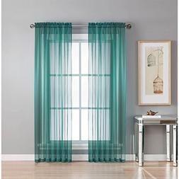 Window Elements Diamond Sheer Voile Extra Wide 56 x 63 in. R