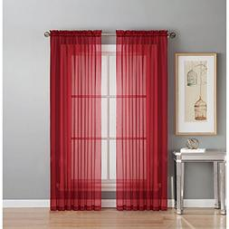 Window Elements Diamond Sheer Voile Extra Wide 56 x 90 in. R
