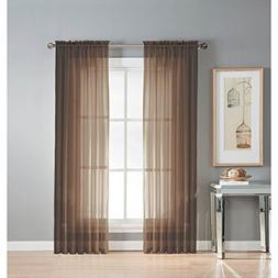 Window Elements Diamond Sheer Voile Extra Wide 112 x 84 in.