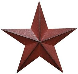Distressed Country Red Black Burgundy Barn Star Country Prim