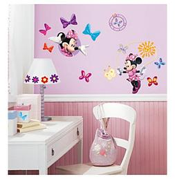 "RoomMates Disney® Mickey and Friends ""Minnie BowTique"" P"