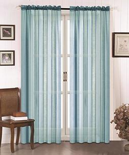 """All American Collection New Doli Sheer Curtain 120""""x84"""""""