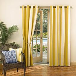 Sun Zero Dorie Striped Indoor Outdoor UPF 50+ Curtain Patio