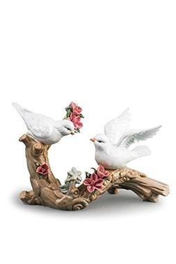 Doves On Blossoming Branch Love Birds Couple Porcelain Figur
