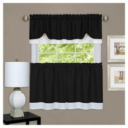 Achim Home Furnishings DRTV36BW12 Darcy Window Curtain Tier