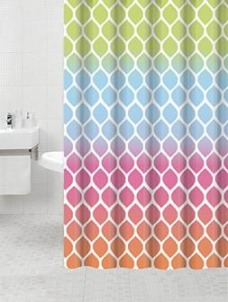 Eclipse Collection Ombre Honeycomb Canvas Fabric Shower Curt