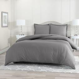 Egyptian Comfort 1800 Count 3 Piece Ultra Soft Duvet Cover S
