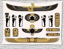 Egyptian Tapestry Wall Decor by Ambesonne Hieroglyphs Free S