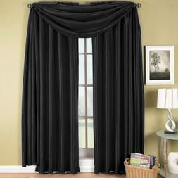 Elegance Solid Rod Pocket Window Treatment- Panels, Valances