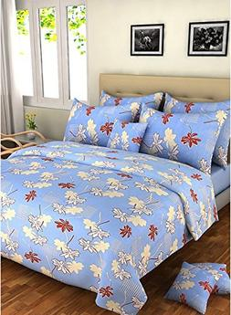Bombay Dyeing Element Polycotton Double Bedsheet With 2 Pill