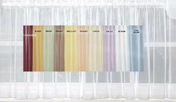 Emelia Sheer Voile Kitchen Curtain - 11 colors - Tiers, Swag