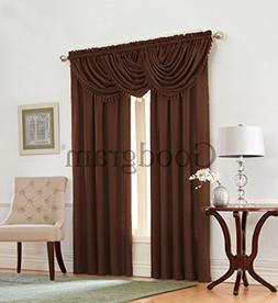 Emerald Crepe Heavy Textured 5 Piece Complete Window Curtain