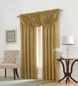 Regal Home Collections Emerald Crepe Waterfall Window Valanc
