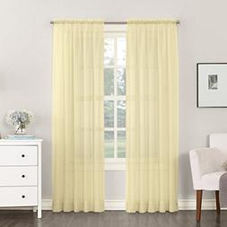 "No. 918 Emily Sheer Voile Curtain Panel, 59"" x 84"", Yellow"