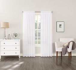 "No. 918 Emily Sheer Voile Curtain Panel, 59"" x 54"", White"