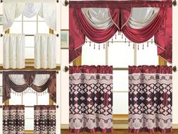 Empire Home Elegant Fancy Kitchen Curtain 3-Piece Window Set
