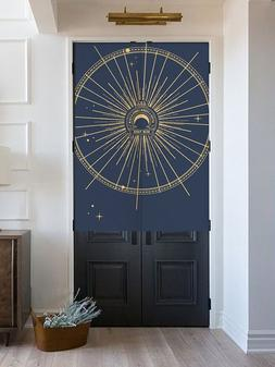 European <font><b>Gold</b></font> Star and Moon Door <font><