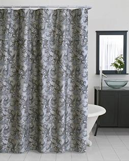 Extra Heavy Fabric Jacquard Bella Floral Shower Curtain