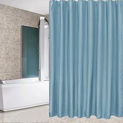 Eforcurtain Extra Long Solid Light Blue Shower Curtain with